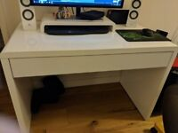 Gloss White Desk with Draw