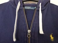 POLO HOOD/JACKET SIZE M BLUE WITH YELOW MOTIF