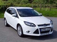 2012 SatNav 2012 62 Ford FOCUS Zetec Navigator Estate 1.6TDCi, Parking Aid, New MOT, F-Sync £20 Tax
