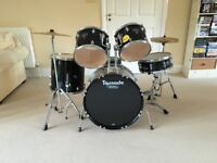 MAPEX TORNADO 22 inch DRUM KIT IN BLACK WITH EXTRAS - ONLY HAD LIGHT USE