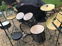 Tama 200 Hazy drum kit with seat and music note stand