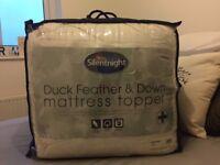 Slumberdown Super Kingsize Duck Feather & Down Mattress Topper