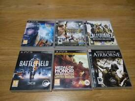 PS3 PlayStation 3 Six Game Bundle Rated PG16+ UK Delivery