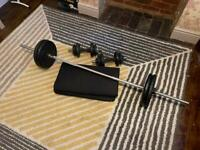 Weights - barbell dumbbells