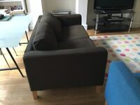 IKEA brown two seater sofa for sale