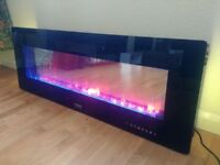 Designer electric heater with fire effect