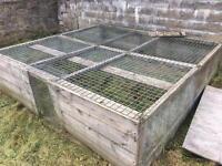 Large animal run enclosure. Rabbit guinea pig, hen, chicken