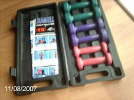 Boxed set of Dumbbells for sale.