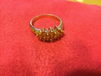 Gold Ring 9ct Yellow Sapphires