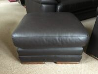 Quality Brown Leather Foot Stool - £35