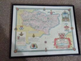 Battle of Britain era map of Kent, by Ernest Clegg