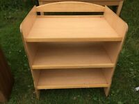 Pine changing table