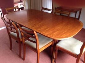 Regency Style Reproduction Dining Table And 6 Chairs