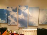 Large blue sky wall art canvas