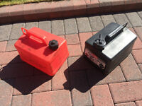 2 x fuel cans/containers for diesel or petrol etc...