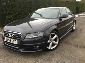 Immaculate Sept 2008 Audi A4 S Line 2.0 Tdi 140 bhp, trade in considered, credit cards accepted.