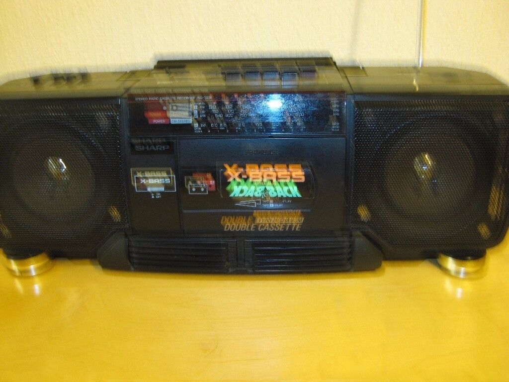 Sharp radio cassette player.