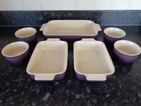 Le Creuset Purple Bakeware Set - Unused