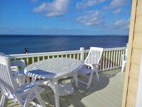 *Sensational* Sea Views !!! *Beachfront* Platinum Caravan for hire Craig Tara Ayrshire.