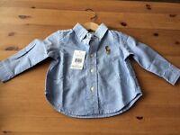 BNWT 🌟Ralph Lauren 9M baby shirt