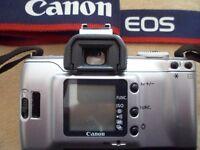 Canon EOS 300v 35mm SLR Camera, EF 28-90 f/4.0-5.6 II, EF 75-300mm f/4.0-5.6 III non USM & flash gun