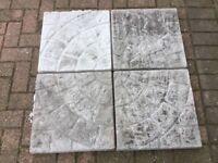 Concrete garden round circle slabs