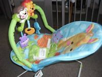 Fisher Price Precious Planet Playtime vibrating baby bouncer -Excellent condition