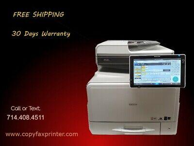 Ricoh Mp C307 Color Copier Printer Scanner. Low Meter Count