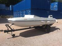 18ft Speed Boat -25hp outboard - Good condition - Good Trailer