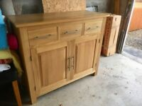 OAKLAND FURNITURE BOOKCASE AND SIDEBOARD IN VGC
