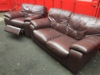 2 seater and recliner chair (can deliver)
