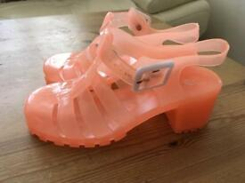 Girls jelly sandals shoes size 1 brand new