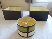2 Large Lamp Shades + 1 Medium Shade in very good condition all around - Sold together or separately