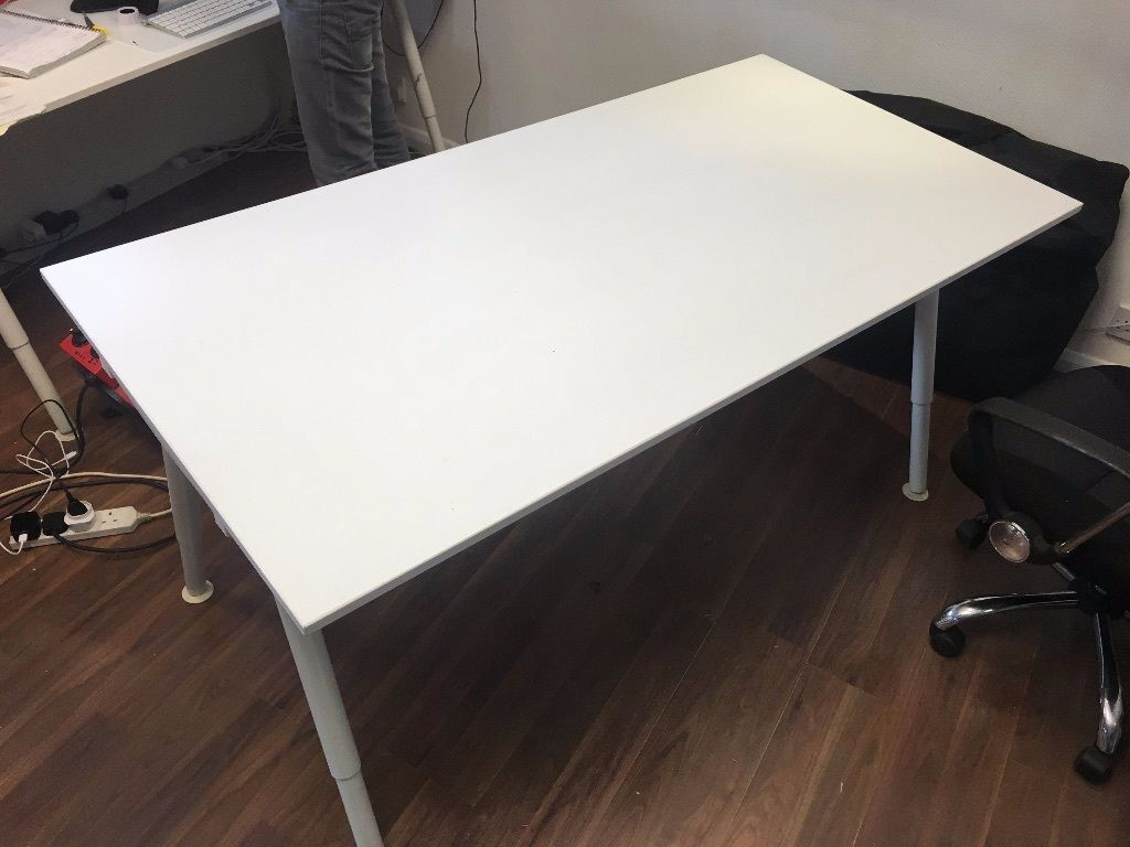 Ikea galant adjustable desk for Ikea galant bureau debout hack