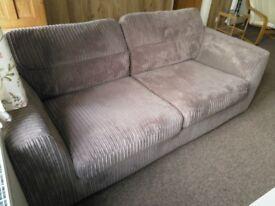 Grey Three Seater Sofa