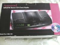AMSTRAD MW/FM STEREO CD CLOCK RADIO (New & Boxed)