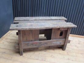 Old school bench kitchen island