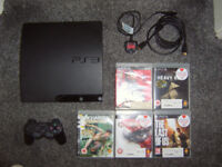 PS3 + Games and 1 Controller with 2.5 Month Warrenty