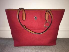 US POLO ASSN. red felt bag