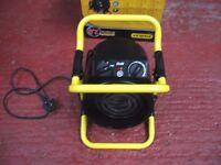 Stanley electric 2000w industrial fan heater, adjustable heat settings, as new in box
