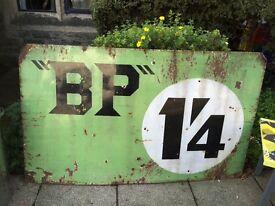Vintage BP advertising sign