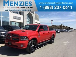 2016 Ram 1500 Sport Crew, Nav, Bluetooth, Sunroof