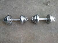 2 x 10kg Chrome Dumbbell Weights
