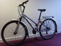 Kids Bicycle, Used, Girl Aged 8–13, Purple/Silver, Good Condition, Giant Rock. Free Delivery in EDI