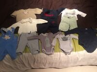 Bundle of baby boy clothes 0-3 months old