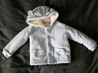 Baby blue coat. 12- 18 months.