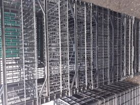 Stacking crates black plastic various sizes