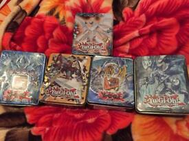 Yugioh cards 2000 with 5 tins