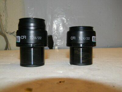 Nikon Cfi 10x22 Eyepieces From A Nikon Eclipse Te300 Pair