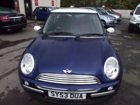 2003 MINI COOPER CHILI, 2 OWNERS FROM NEW, FULL SERVICE HISTORY,MOT TILL AUGUST 2018. GREAT DRIVER,